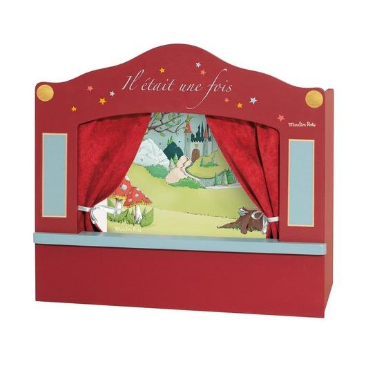 Напольный кукольный театр, малый, красный