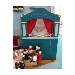 Большой напольный кукольный театр, синий