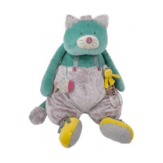 Многофункциональная мягкая игрушка Котик, большой