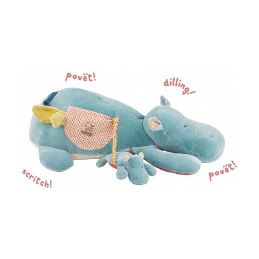 Многофункциональная мягкая игрушка Бегемот